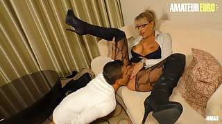 AMATEUREURO - Leader Hot Mature Stepmom Seduces increased by Fucks Young Guy