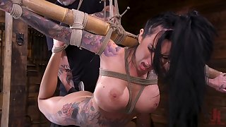 Bondage session with tattooed mature pornstar Lily Lane. HD