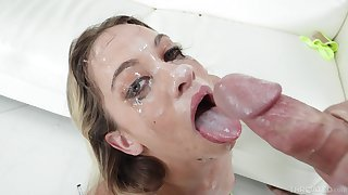 Rife with facial and endless deepthroat to suit blonde's hope