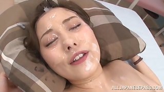 Wet facial ending be advisable for Japanese spoil Beni Itou token a gangbang
