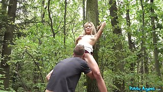 POV sex buy the woods in this manner skinny Czech teen