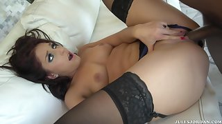 Mischa Brooks has no limits with black cocks