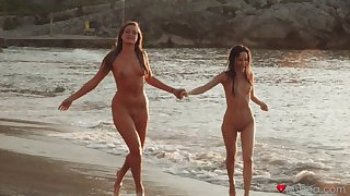 Amazing lesbian sex away from the sea with HOT babes Lilu Moon with an increment of Dote on May