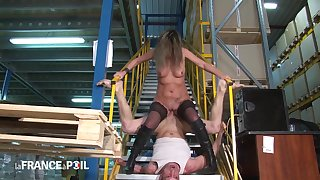 Older Factory Owner Fucks Two New Employees Caught Jerk