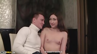 Czech brunette ended up sucking a strangers dick and getting fucked hard from the back