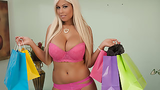Bridgette B. buys lingerie to get fucked in by her Sugar Daddy