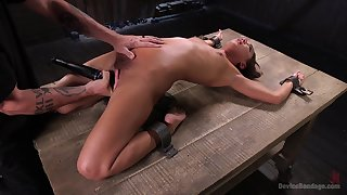 Slender model Amara Romani directed up and gets rough penetrated