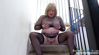 Europe MaturE Busty Nancy Trisha Solo Masturbation