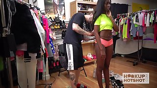 Charming future porn bamboozle start off dastardly hottie Tori Montana tries clothes on