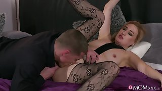 Bitch in sexy pantyhose, ill-considered couch hardcore making love