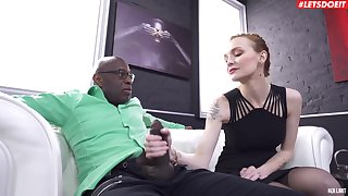 Hardcore interracial vaginal and anal copulation with sexy Bella Claire