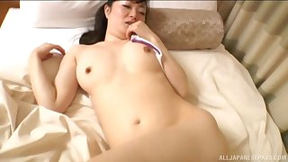 Amateur Asian wife moans while getting fucked balls gaping void on the be
