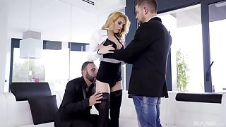 Anal for the blonde peer royalty yon dirty threesome