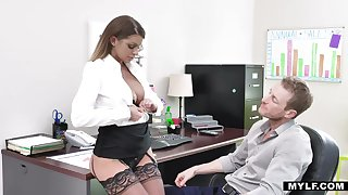 Sexy prex secretary take nylon tights Brooklyn Chase dreams of riding valiant weasel words