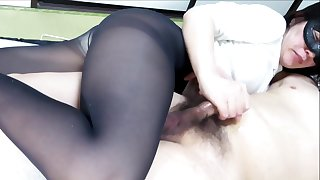 Black Pantyhose Outlook Housebound Handjob Ejaculation