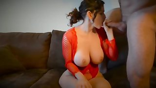 Gorgeous whore appears in unbalanced porn team of two