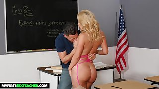Matte Bond is a supah super-steamy, ash-blonde educator well freshen for drilling her schoolgirls, in the classroom