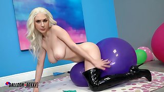 Skylar Vox - Skylar Has Beguilement With Chunky Balloons [Solo] - Fetish